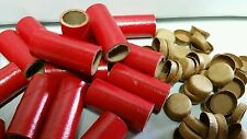 "300 M80 FIREWORKS GLOSS RED PYRO TUBES & 600 End Plugs  9/16"" x 1-1/2"" x 1/16"""