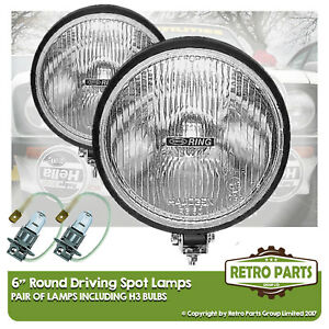 "6"" Round Driving Spot Lamps for Ford Escort. Lights Main Beam Extra"