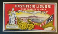 Rara Pubblicita' anni 30/40 in Cromolitografia Pastificio Liguori  Gragnano (NA)