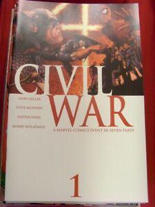 CIVIL WAR 1-7 MARVEL COMIC SET COMPLETE MILLAR CAPTAIN AMERICA IRON MAN 2006 NM