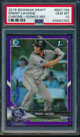 PSA 10 GRANT LAVIGNE 2018 Bowman Draft Chrome PURPLE REFRACTOR #/250 RC GEM MINT