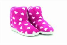 c4704a9641a Ladies Tanya Heart Bootee Indoor Slippers Memory Sock Sole Ladies UK 7   EU  40 Purple