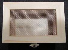"Mini Small 3.125"" Unfinished Treasure Box Wood Mesh Top Paint Craft Diy Project"