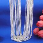 """Beauty Chain Women Necklace 1MM 16-30"""" Silver Plated Ball Beads"""