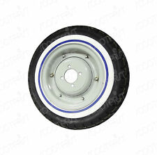 Vespa 8 Inch Tyre/Tire Tube Wheel Rim White Wall Pair Set of 2 Vbb Super 150 125