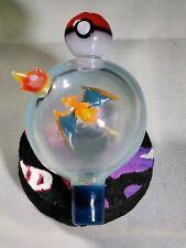 Pokemon Glass Art Sculpture Bubble Charizard Opal Flame Cap Pokeball