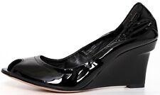 Vera Wang Lavender Black Monique Patent Wedge 9256 Size 8 M
