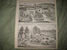 ANTIQUE 1875 VENICE CAYUGA COUNTY NEW YORK LITHOGRAPH PRINT LESTER FAMILY FARM N