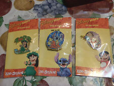 disney pins lilo in hula outfit,scrump,stitch as alien lot of 3