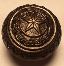 STATE SEAL KNOB ORB TEXAS SEAL STAR PULLS WESTERN HARDWARE CABINET STAR KNOBS