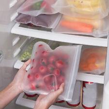 20X Resealable Silicone Food Storage Freezer Bags Kitchen Vacuum Fresh Ziplock