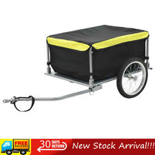 VidaXL Bike Cargo Trailer - Black/Yellow (91684)