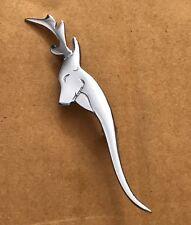 "Highland Kilt Pin Stag head Chrome Finish 4""/Stag head Kilt Pin/Brooch/kilt Pin"