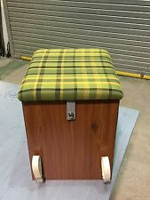 T2 Westfalia Wooden Buddy Seat / Storage Box Green C9609G