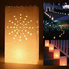 60pz Carta Borse Sacchetti per Candele Diffusione Luce Porta candela Lanterna