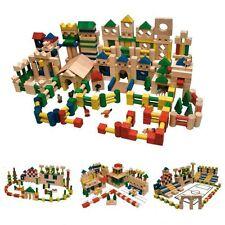 Holzspielzeug 250 Holzbausteine Holz Bausteine Bauklötze Holzklötze bunt Buche