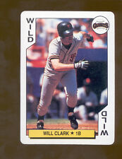 1991 Bicycle WILL CLARK San Francisco Giants  Playing Card Mint