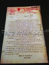 Rare Titanic Memorabilia Letter Regarding Life Rafts for Third Class Passengers