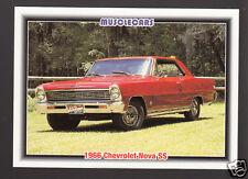 1966 CHEVROLET NOVA SS 327ci V8 Red Muscle Car Photo 1992 SPEC INFO TRADING CARD