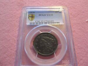 1838 Coronet Head Large Cent PCGS graded VF35