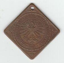 1887 Frankfurt 9th German Shooting Festival Bronze Klippe Medal Nice Make Offer