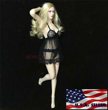 "1/6 Sexy Lace Babydoll Chemise Set For 12"" Phicen Hot Toys Female Figure USA"