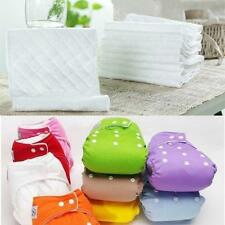 Trendy 5x Inserts Reusable Baby Washable Nappies For Cloth Diaper Toddlers SS US