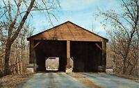 Nashville Brown County State Park Ramp Covered Bridge Salt Creek Postcard