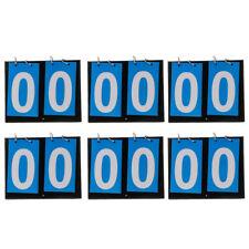 6 Pieces 2-Digital Multifunction Basketball Flip Table Top Scoreboard Accs