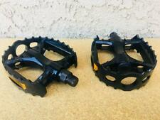 "BMX BEAR CAGE TRAP Pedals 1/2"" BLACK *for 1-piece Cranks* GT Old School Style"