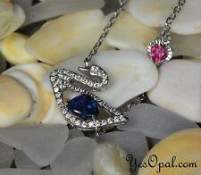 Opal Bracelet,Opal Chain,Solid Black Opal, Australian Opal, Opal Pendant, Swan