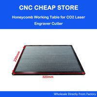 CO2 40W Laser Rubber Stamp Engraving Honeycomb Work Table 32x22cm Shenhui K40