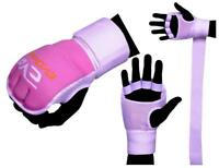 EVO Ladies pink boxing gel Gloves MMA Inner Hand Wraps Body combat martial Arts