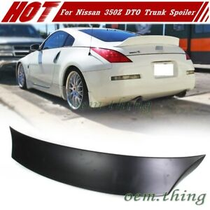 Fit FOR NISSAN 350Z Coupe Convertible V Look Trunk Spoiler 08 DTO Unpaint