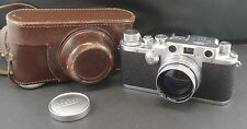 Leica IIIc Film Camera - f=5cm 1:2 Lens + Case + Manual