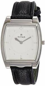 100% Authentic TITAN Braille Silver Face Quartz Rectangle Wrist Watch
