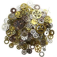 100g Watch Parts Steampunk Jewellery Art Craft Cyberpunk Cogs Gears Charms DIY