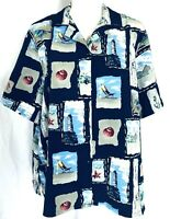 Bonworth Women's Large Petite Blouse Short Sleeves Button Down V Neck Collared