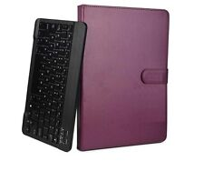 "Removable Bluetooth Keyboard With Case Cover for 10"" Acer Iconia Tab 10 32gb Purple"