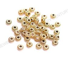 100Pcs Tibetan Silver/Gold/Bronze Spacer Beads Jewelry Findings 6MM C3023