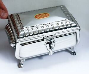 Unusual Vintage Stainless Steel Ornate Spice Mixing Box with Inner Fittings.