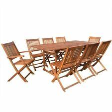 vidaXL 44053 Ensemble de Table et 8 Chaises en Bois d'Acacia Solide - Marron