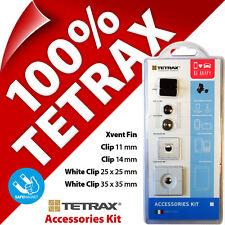 Nuevo Tetrax KIT ACCESORIOS Recambio CLIPS ADHESIVOS de repuesto PACK blanco