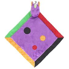Baby Purple Horse Pony with Colorful Dots Security Lovey Blanket NEW