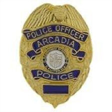 Metal Lapel Pin Law Enforcement Collector Police Badge Arcadia CA