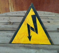 Sign Plaques Warning Danger Caution Notice  Metal Vintage Soviet Russian USSR