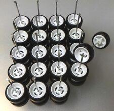 Hot Wheels 4 Spoke Long Axle Rubber Tire 10 set White Colors JDM (High Quality)