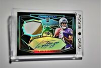2018 Lamar Jackson Rookie Patch Green Etch Obsidian 17/25........SUPER RARE!!!!!
