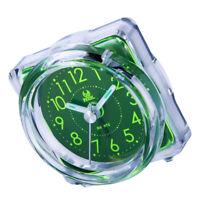 Mini Alarm Clock Desktop Table Bedside Clock for Home Kids Bedroom Office 4#