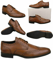 Mens Light Brown / Tan Leather Gibson Brogues Size UK 6 7 8 9 10 11 12